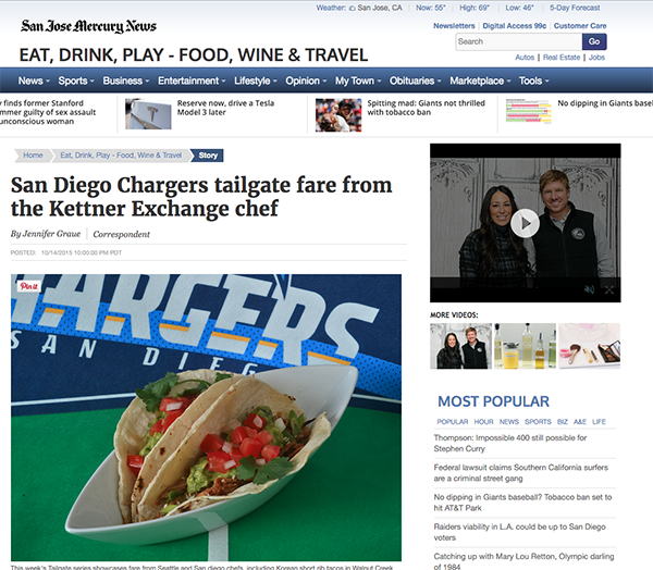San Diego Chargers Tailgate Fare From The Kettner Exchange