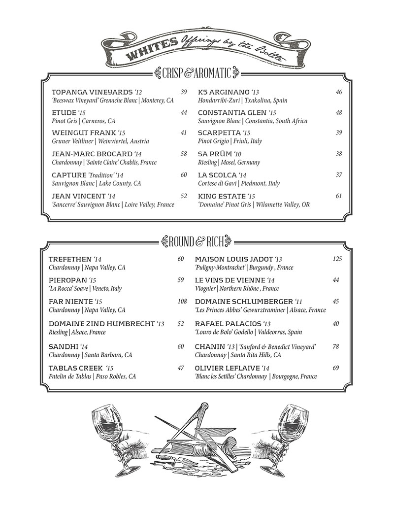 Kettner Exchange Cocktail Menu