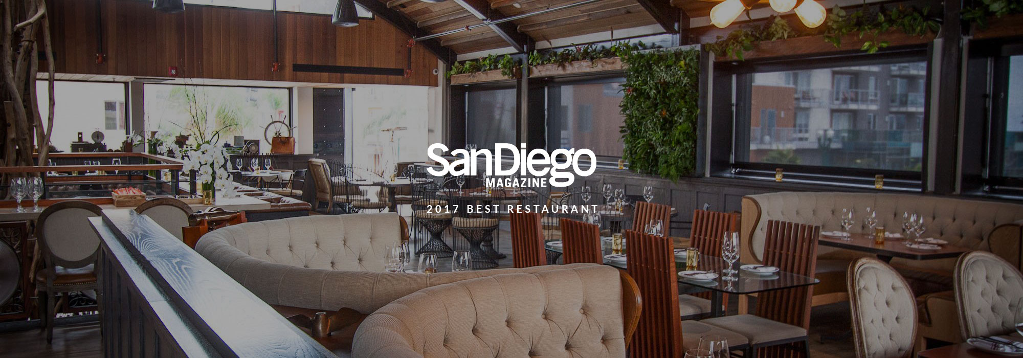 San Diego Magazine 2017 Best Restaurant Winner