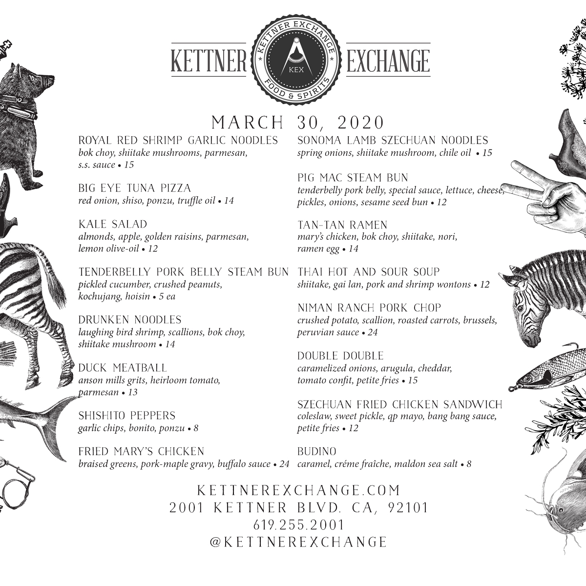 Kettner Exchange to go menu