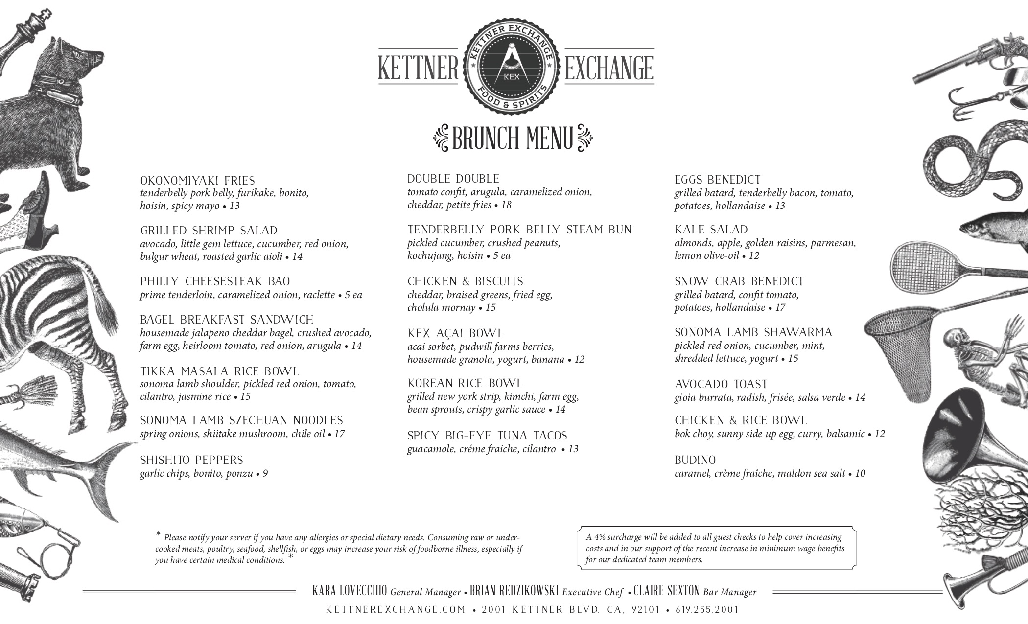 Kettner Exchange Brunch Menu